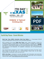 Earth Day Texas Exhibitor & Sponsor Deck 2014