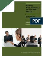 Factores Psicologicos Entrevista Trabajo
