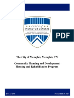 HUD audit of city of Memphis home repair program