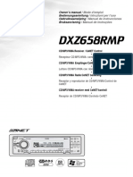 Clarion Cdmp3wma Receiver Owners Manual Dxz658rmp for Clarion Dxz658rmp Car Stereo System