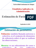 Estimación de Parámetros- Estadística Aplicada a la Administración