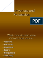 Kuliah v Assertiveness and Persuasion