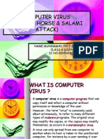 Computer  Virus(Trojan Horse & Salami Attack)