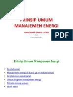 Prinsip Umum Manajemen Energi