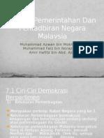 Sistem Pemerintahan Dan Pentadbiran Negara Malaysia