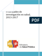 Prioridades Investigacion Salud2013-2017
