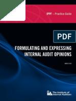 Expresing Internal Audit Opinion