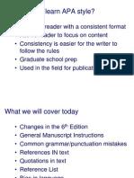 APA 6th Edition Revised