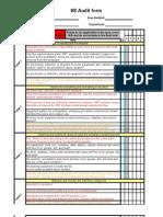 6s audit workshop form