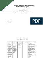 Lesson Plan (Sample)