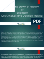 Shutting Down of Factory or Segment - Cost Analysis and Decision Making