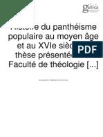 histoire du pantheisme médieval