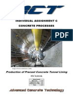 Manufacture of Precast Tunnel Lining