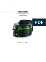 Printetti Drifry Healthy Fryer Manual