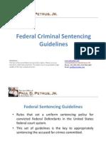 Federal Criminal Sentencing Guidelines
