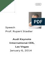 Rupert Stadler – Consumer Electronics Show – 2014