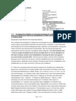 R B Sreekumar's Letter to CM Narendra Modi 06-01-14