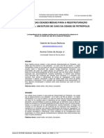 A importância das cidades médias para a reestruturação urbana no Brasil um estudo de caso da cidade de Petrópolis