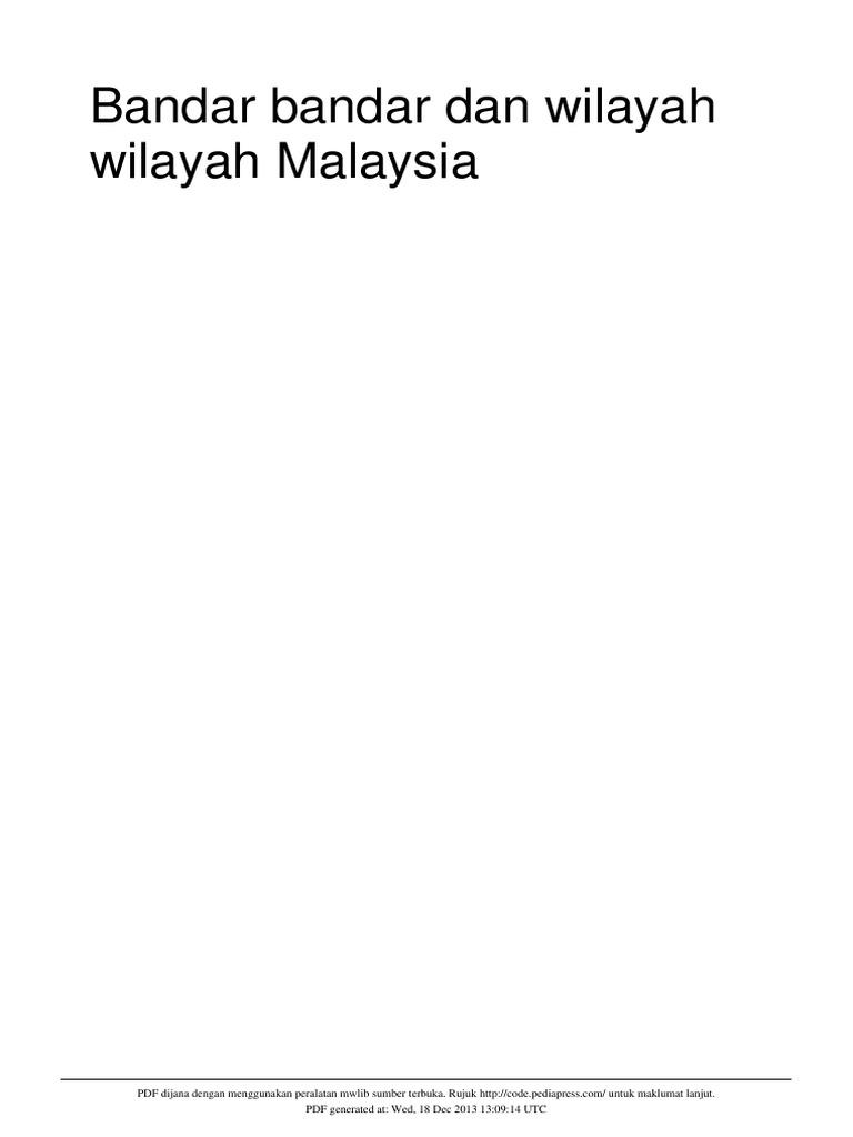 Bandar Dan Wilayah Malaysia