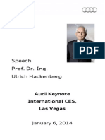 Prof. Dr. Ulrich Hackenberg - Consumer Electronics Show - 2014