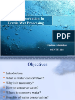 Water Conservation in Textile Wet Processing