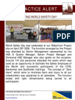 72 Bsu Best Practice Alert - Celebrating World Safety Day