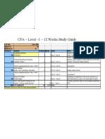 CFA I Study Plan 12weeks