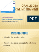 Oracle DBA Online training Offered by SRY IT | DBA Course Details| Database Administration training