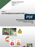 bahan kuliah ekotoksikologi ujitoksisitas kuantitatif
