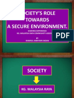 Societys Role Towards a Secure Environment