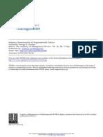 Industry Determinants of Organizational Culture