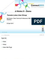 Notes and iNotes 9 - Demo