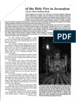 THE CHRISTIAN ORTHODOX REPEATING MIRACLE  OF THE HOLY FIRE IN JERUSALEM