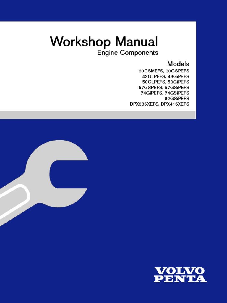 workshop manual engine components ignition system motor oil rh scribd com volvo d6 evc manual volvo penta d6 evc manuel