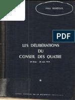 Mantoux Paul Les Deliberations Du Conseil Des Quatre Vol 1
