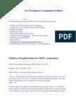 44130407 MPSC State Services Preliminary Examination Syllabus 2011
