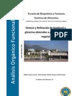 Sintesis Refinacion Biodiesel