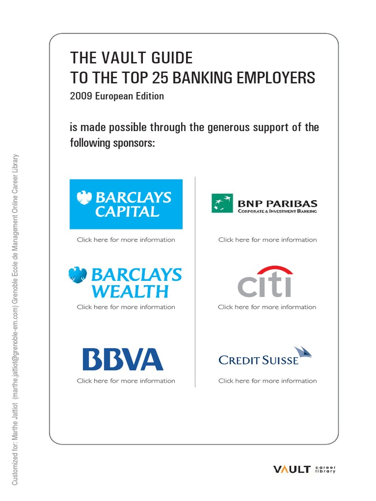 Vault top 25 banking employers investment banking goldman sachs biocorpaavc Image collections