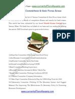 List of Various Commitees