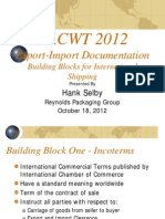 Selby Export Import Documentation