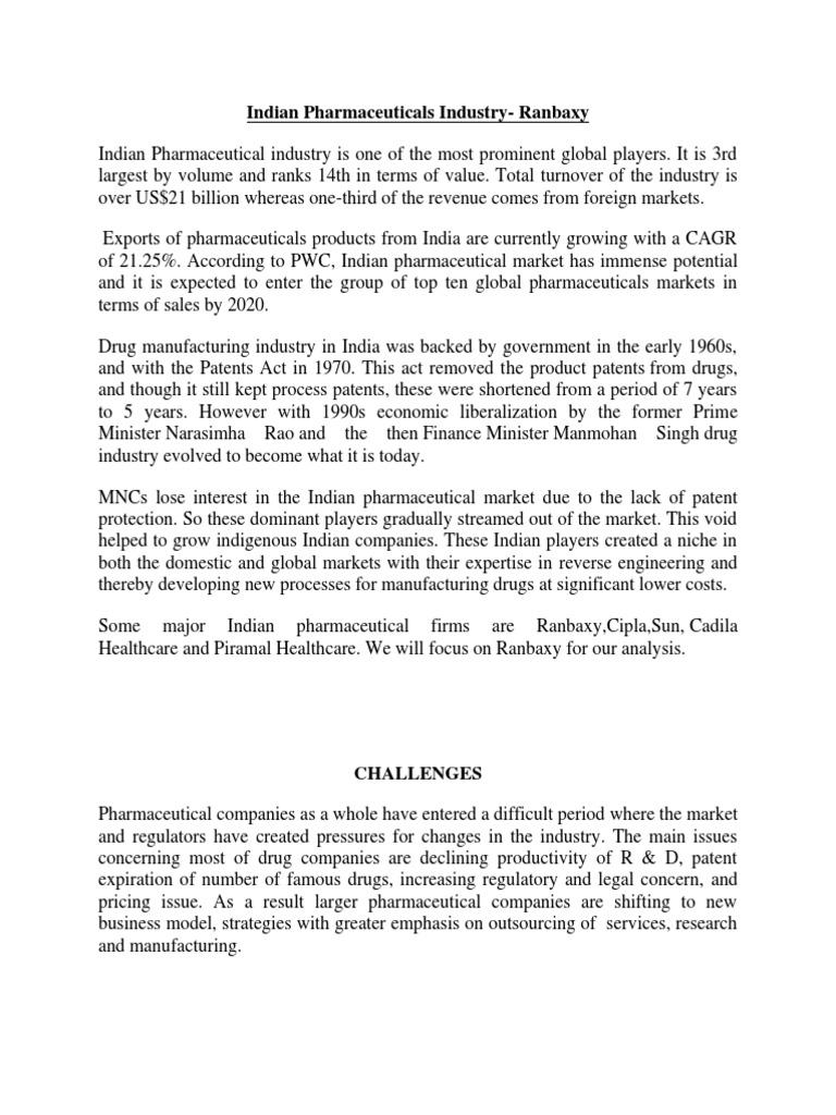 Ranbaxy_Report | Pharmaceutical Drug | Pharmaceutical Industry