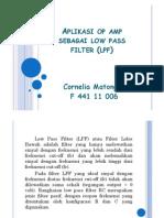 Aplikasi Op Amp Sebagai Low Pass Filter (