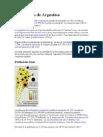 Demografía, política y economía de Argentina