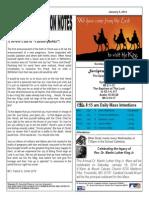 St. Augustine Catholic Church Sunday Bulletin, January 5, 2014
