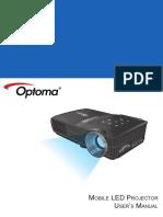 Manual Optoma Ml300