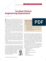 Designing the Clinical Engg dept