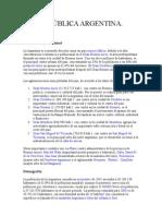República Argentina - Población, Economía y Política!... Versión breve...