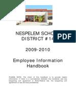Nespelem Employee Handbook 2009_10