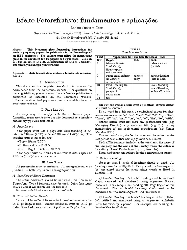 Perfect Ieee Latex Template Vignette - Example Resume and Template ...
