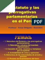 CDG - Estatuto y prerrogativas parlamentarias en el Perú